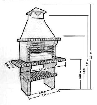 Устройство печь барбекю