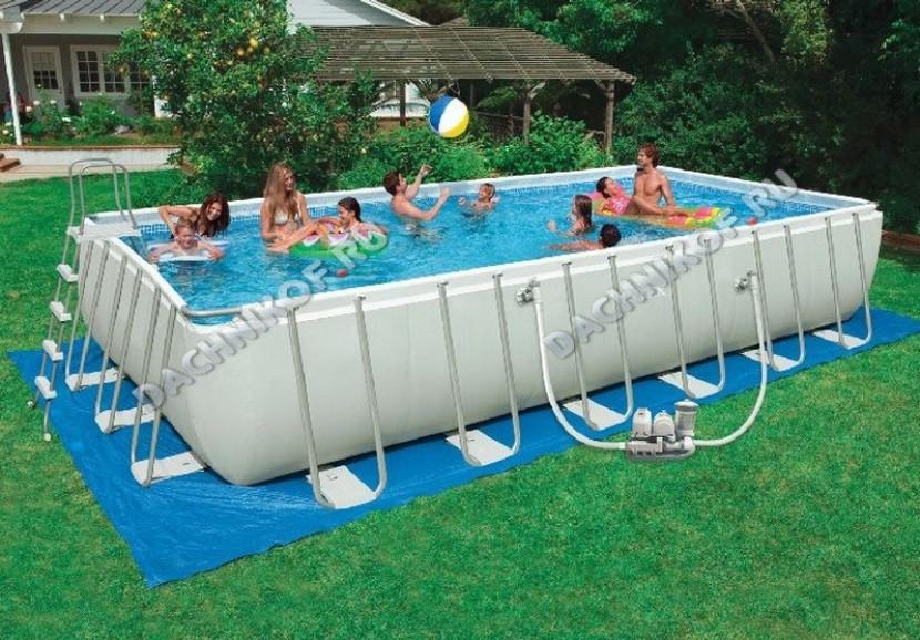 всего поощадка под летний бассейн можете