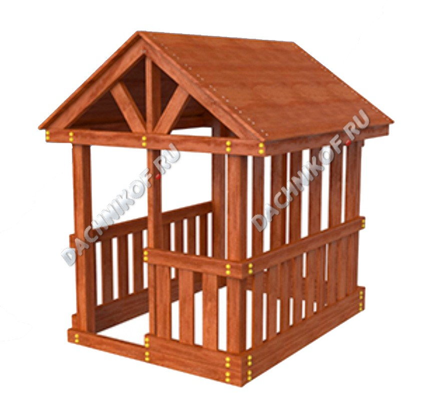 Как сделать домик для площадки